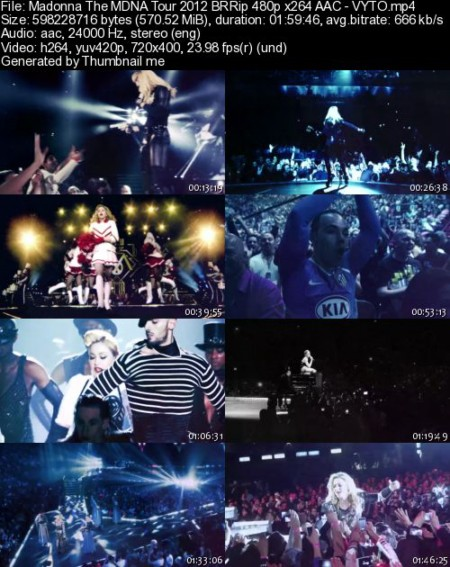 Madonna The MDNA Tour (2012) BRRip 480p x264 AAC - VYTO