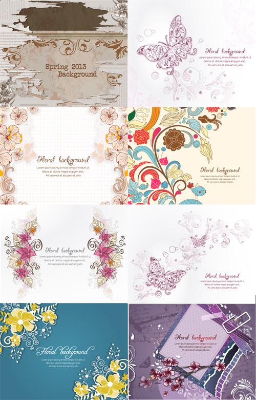Spring Floral Illystrations Set 13