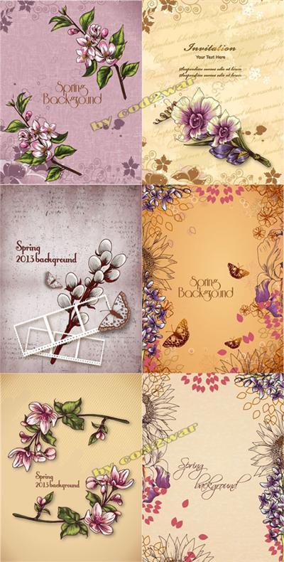 Spring Floral Illustrations Set 08
