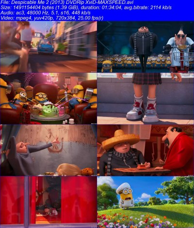 Despicable Me 2 (2013) DVDRip XviD-MAXSPEED