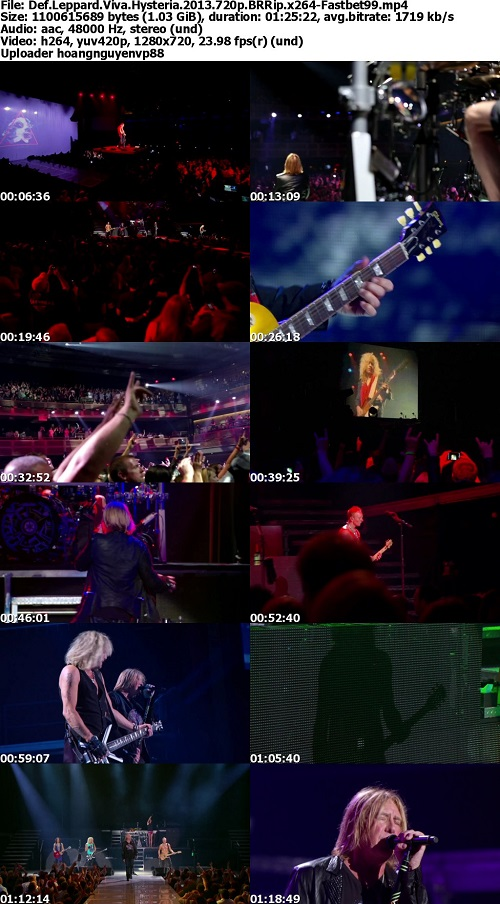 Def Leppard Viva Hysteria Concert (2013) 720p BRRip x264-Fastbet99