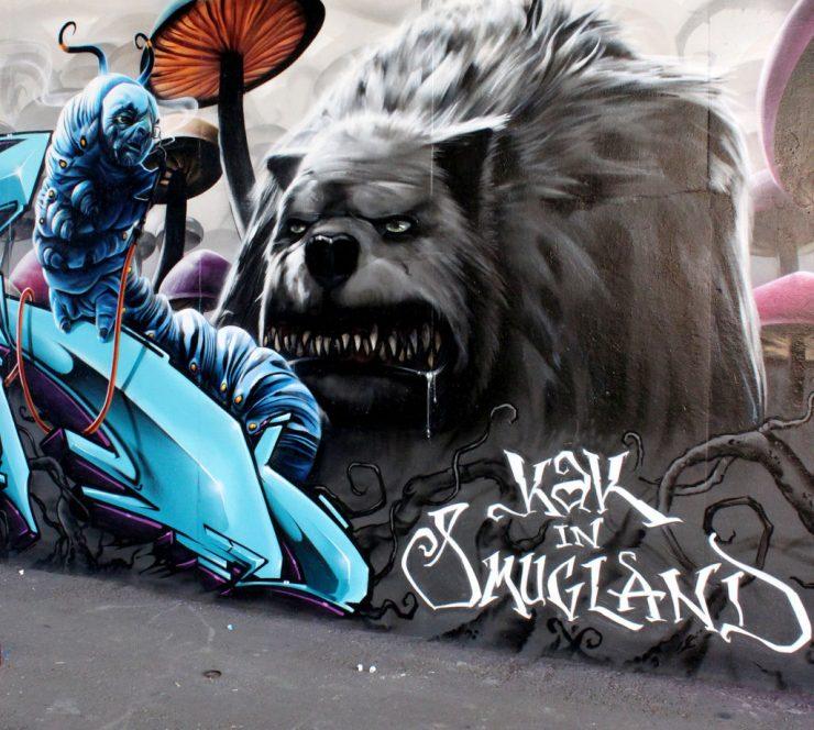 Realistyczny street art 30