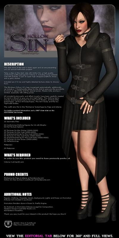 Mortianna's Hollow Sin: Outfit for V4