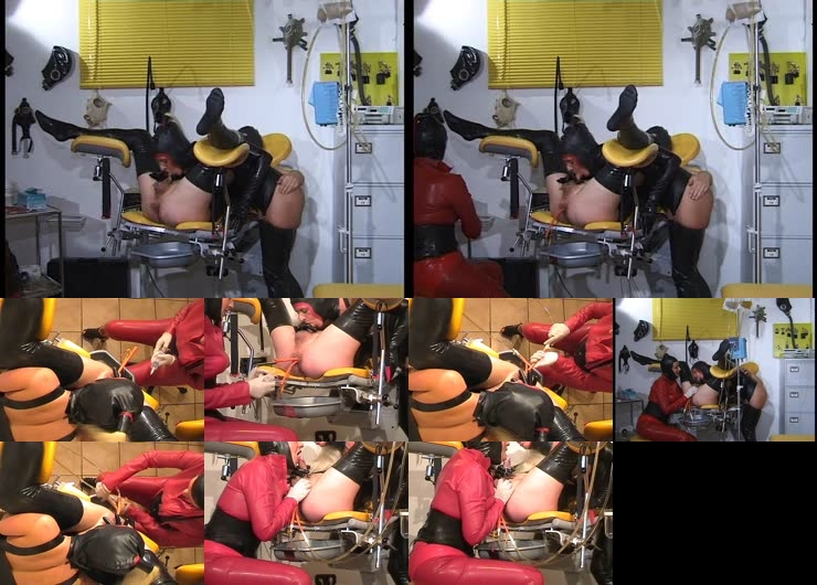 The rubberslave in the clinic