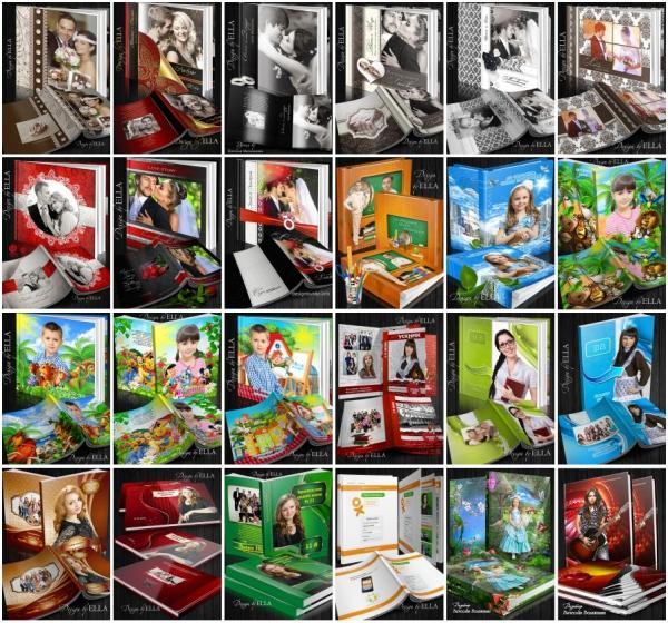 Ella Design: фотоальбомы и зимние фотоколлажи (Photoshop Templates)