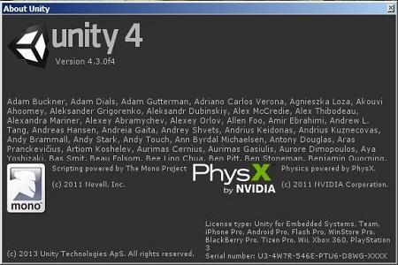 Unity 3D Pro ( 4.3.0 f4, 2013, ENG )