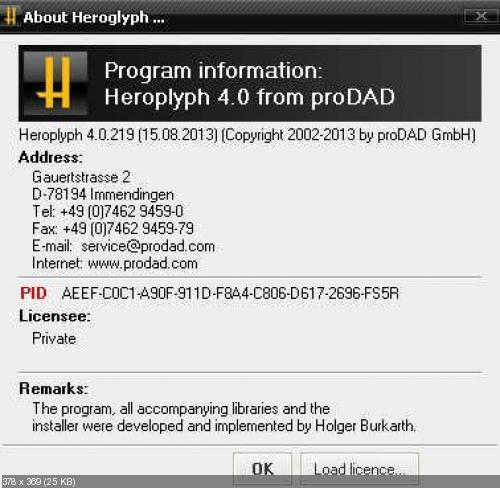 ProDAD Heroglyph 4.0.219.1 (х32/х64)
