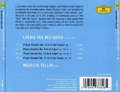Maurizio Pollini (piano) – Ludwig van Beethoven (Piano Sonatas OPP. 7, 14, 22) / 2013 DG
