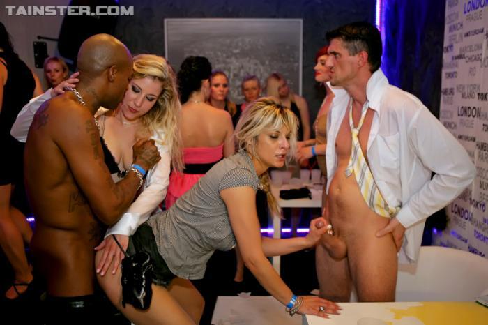 Interracial drunk sex orgy party