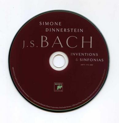 Simone Dinnerstein – BACH : Inventions & Sinfonias / 2014 Sony
