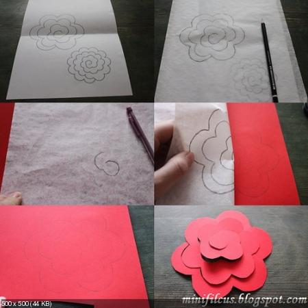 Цветы из дизайнерской бумаги A3d053f56be0bce2cf01a25eb57c76c6