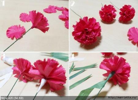 Цветы из гофрированой бумаги 72b412783f2cf3867ae0cfdb68928596