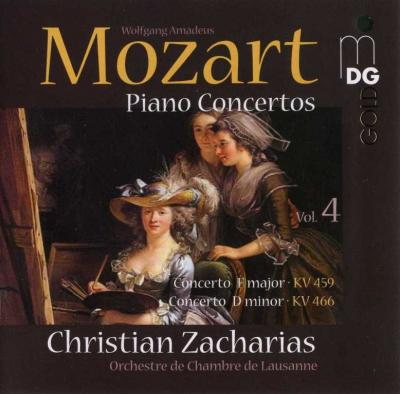Christian Zacharias (piano and conductor) - Mozart Piano Concertos (Concerto F major KV 459, Concerto D minor KV 466) / 2008 MDG