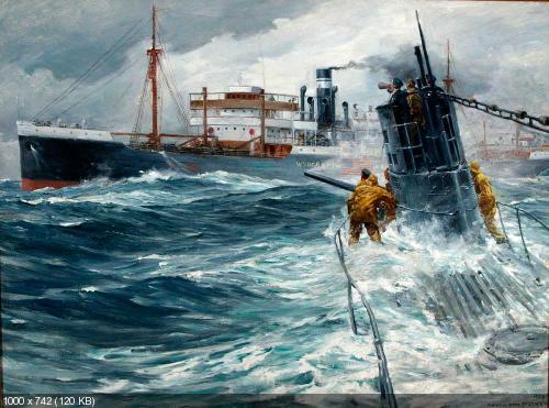 подводные лодки на картинах художник