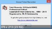 Total Recorder Professional / VideoPro / Developer 8.6.6040